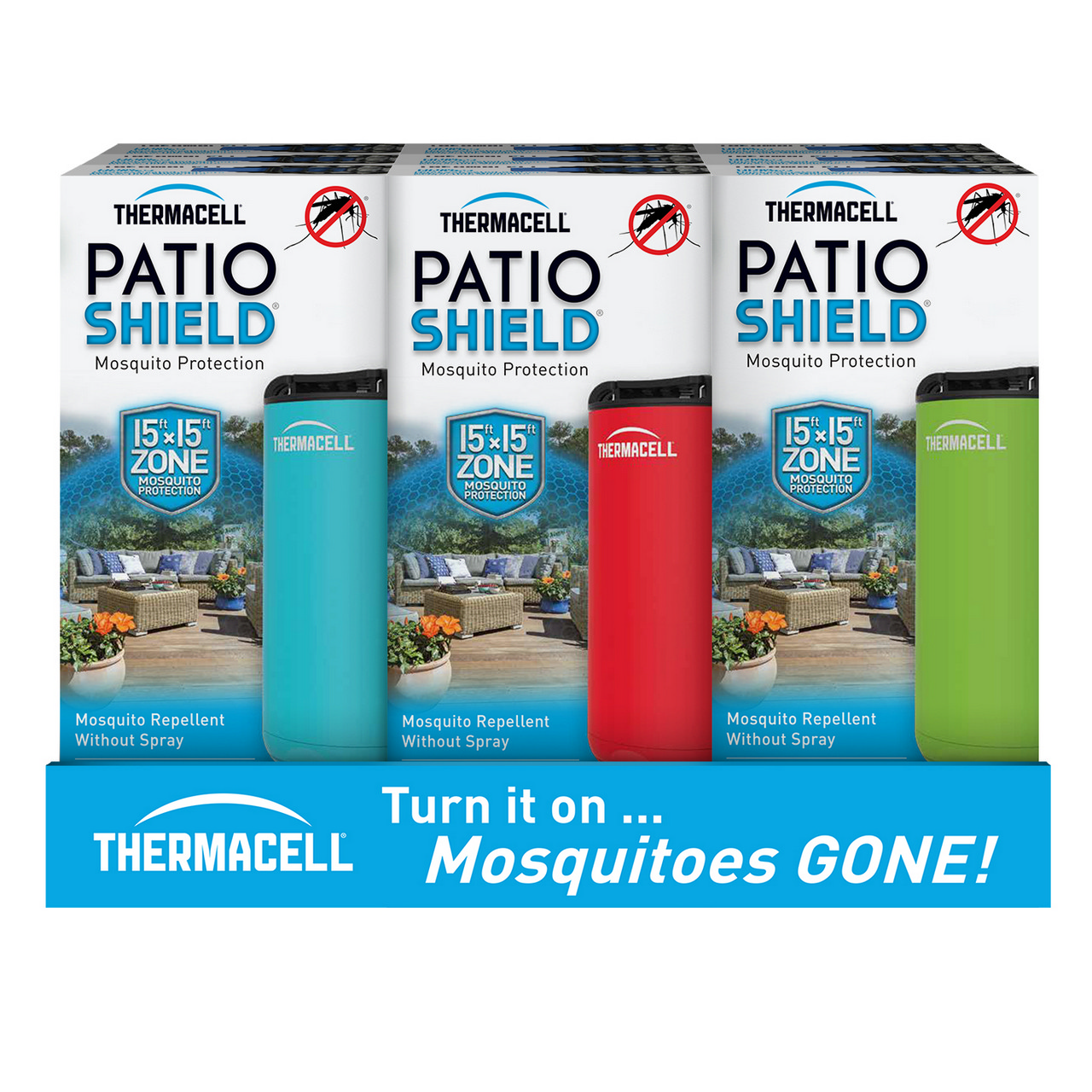 thermacell patio shield mosquito repellent new frontier. Black Bedroom Furniture Sets. Home Design Ideas